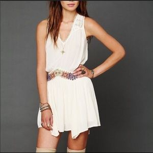 Free People Tank Dress with embroidered hem